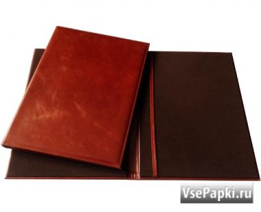 Фото: на подпись папка из натуральной кожи V-157.2.переламутр-коньяк