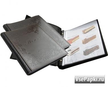 Фото: меню на кольцах для бара V-Классик с прошивкой