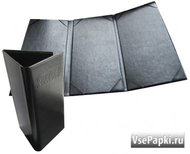 Фото: папки меню с карманами для бумаги V-Трио