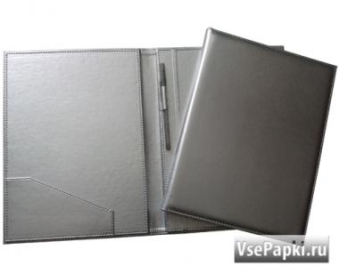 Фото: папка на подпись с ручкой V-157.серебро