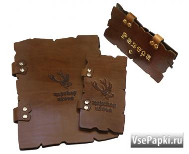 Фото: кожаное меню купить V-Бурбоны